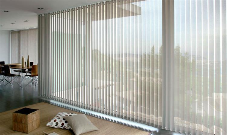 Persiana vertical de tecido em londrina casa criativa - Cortinas verticales para oficinas ...